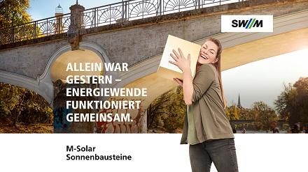 120.000 Euro sammelten die SWM bei den Münchner Bürgern für einen PV-Park in Perlach ein.